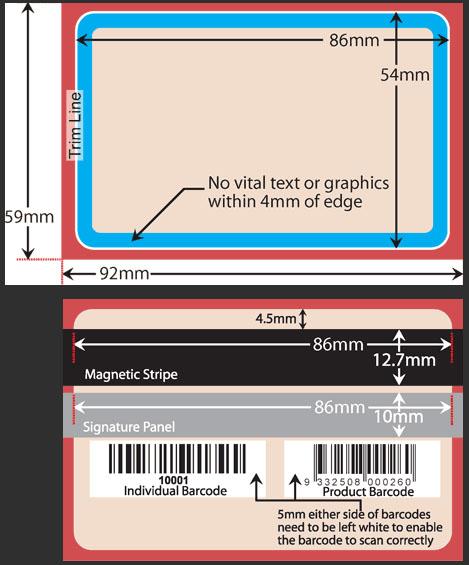 standard card template