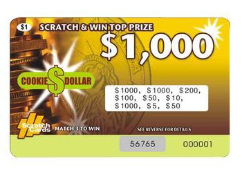 scratch off card
